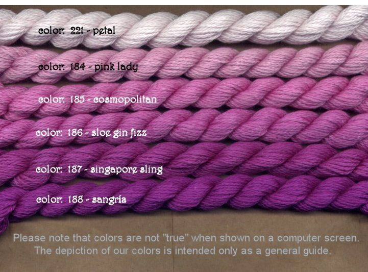Fibers Silk and Ivory    SLOE GIN FIZZ