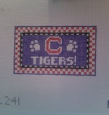 Canvas CLEMSON GO TIGERS  TL241