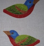 Canvas PAINTED BUNTING CLIP-ON BIRD  300I