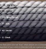 Fibers Silk and Ivory    BLACK