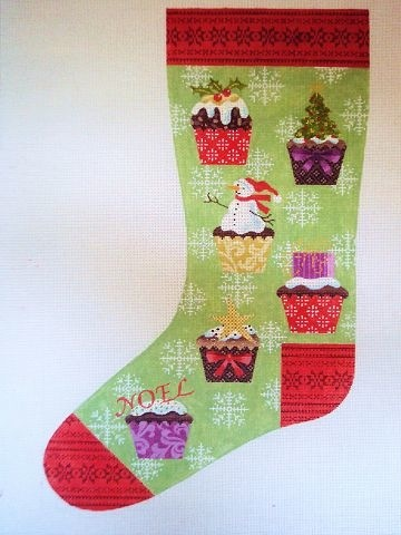 Canvas CUPCAKE STOCKING  KH255