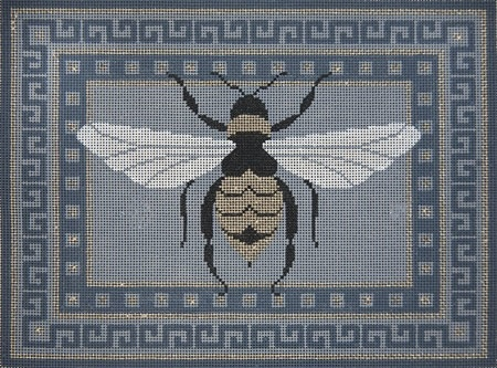 Canvas DRAGONFLY WITH GREY BORDERS  B239