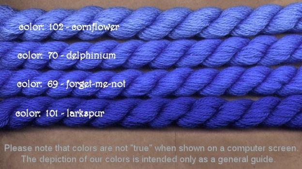 Fibers Silk and Ivory    CORNFLOWER