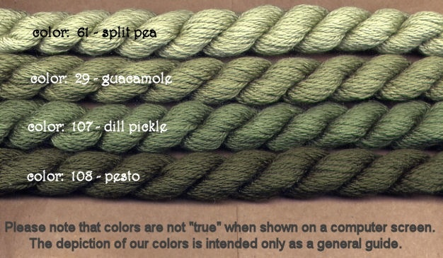 Fibers Silk and Ivory    DILL PICKLE