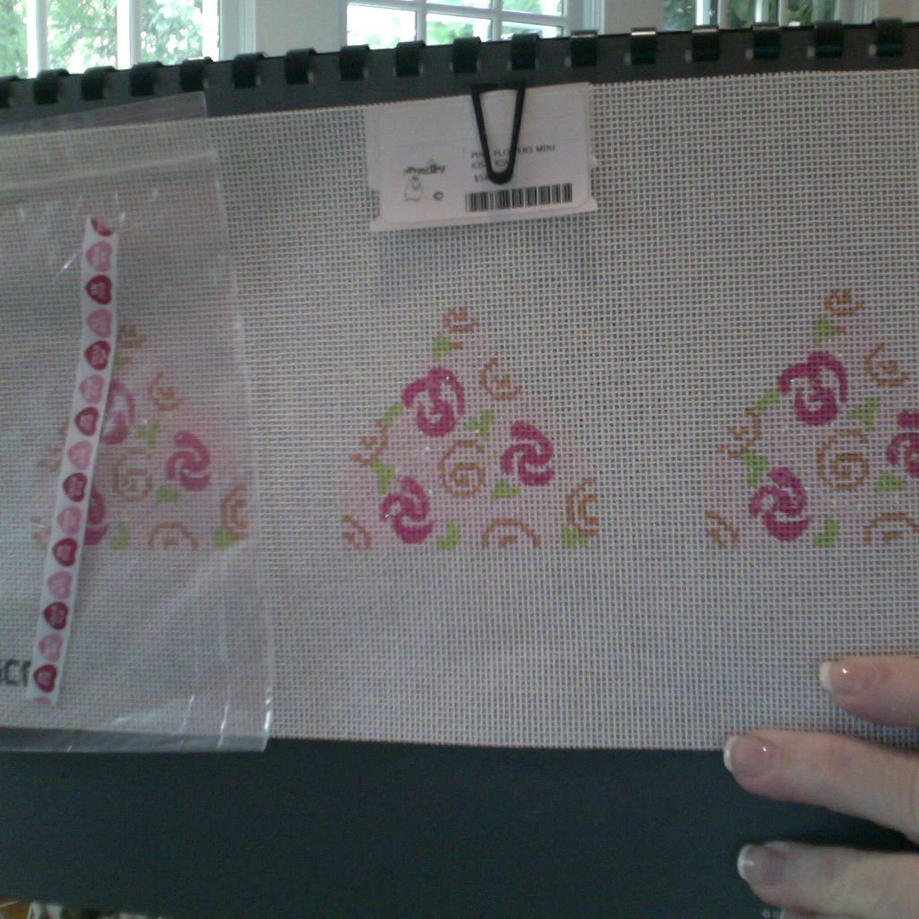 Canvas PINK FLOWERS MINI KISS  KSV3