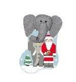 Canvas ELEPHANT WITH SANTA STUFFER  CM510