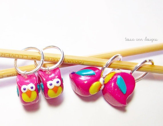 Accessories FUNKY OWL STITCH MARKER