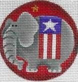 Canvas PATRIOTIC ELEPHANT  63D