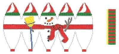 Canvas FULL SNOWMAN HOT AIR BALLOON  5282