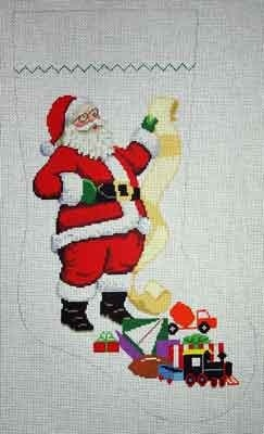 Canvas SANTA WITH LIST - BOY  0110