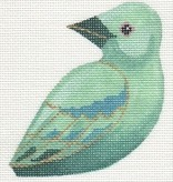 Canvas BLUE TANAGER CLIP-ON BIRD LL300U