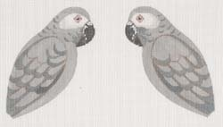 Canvas AFRICAN GRAY PARROT CLIP-ON BIRD  LL306H