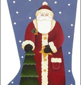 Canvas TREE SANTA SOCK  DM412E