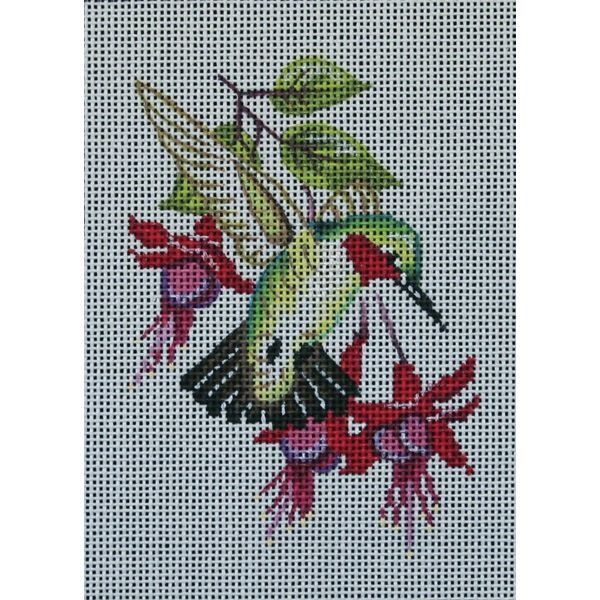 Canvas HUMMINGBIRD AND FUSCHIA  1699  DISCONTINUED