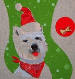Canvas WESTIE STOCKING  PR011