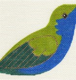 Canvas BLUE AND GREEN HUMMINGBIRD CLIP-ON BIRD LL306R