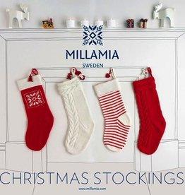 Yarn MILLAMIA STOCKING KIT - CANDY CANE STRIPE WHITE/RED