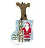 Canvas GIRAFFE SANTA STUFFER  CM512