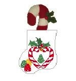 Canvas CANDY CANE HEART STUFFER  CM565