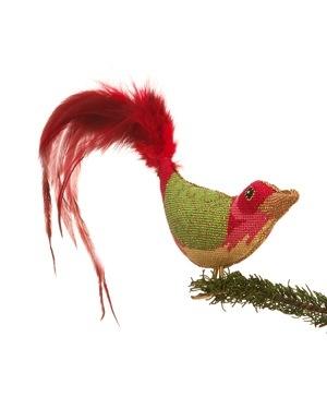 Canvas CHRISTMAS BIRD CLIP-ON BIRD LL300D
