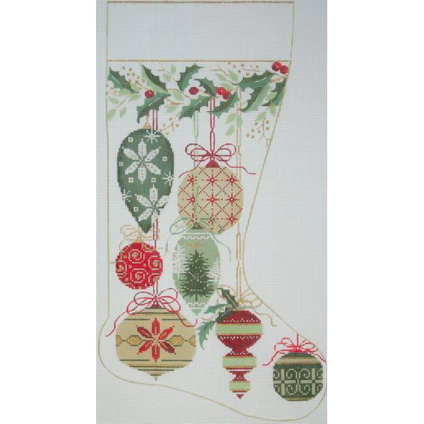 Canvas NATURAL ORNAMENTS STOCKING  2578