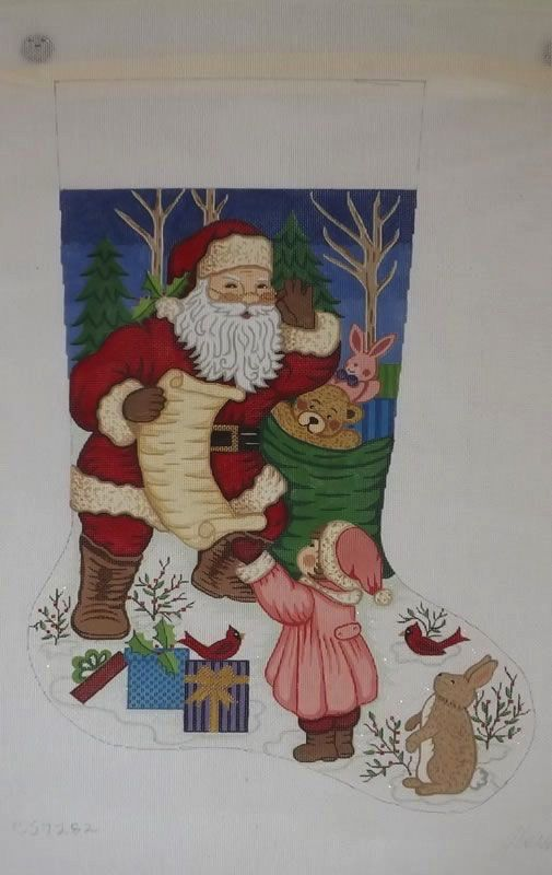 Canvas LITTLE GIRL WITH SANTA  7282