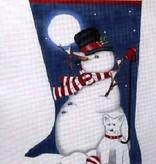 Canvas SNOWMAN AND SNOWDOG  MLT317