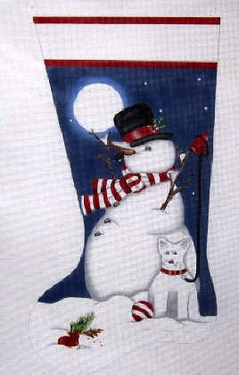 Canvas SNOWMAN AND SNOWDOG  MLT317