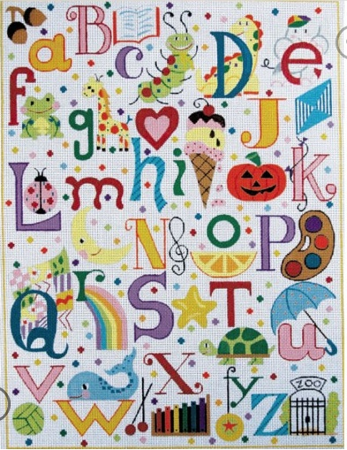 Canvas MULTI COLORED ALPHABET  3061