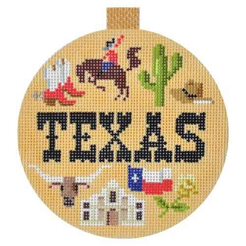 Canvas TRAVEL ROUND-  TEXAS<br />  KB1267