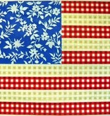 Canvas FLORAL FLAG - STARS ANS STRIPES  KB032
