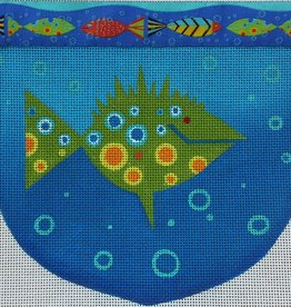 Canvas FISH POUCH WITH RIBBON  ZE423