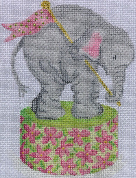Canvas BABY ELEPHANT ON DRUM  OM96