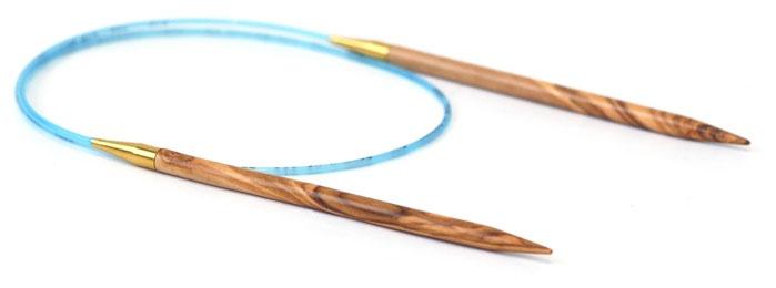"Needles ADDI OLIVE WOOD CIRC 24"" #2"