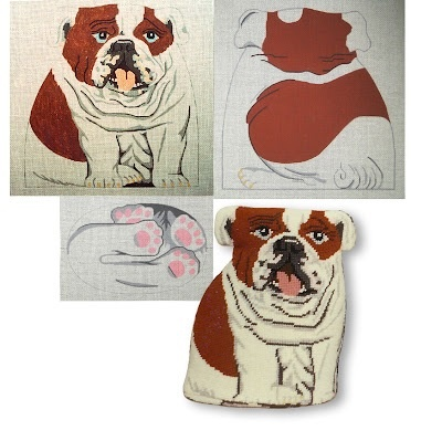 Canvas BULLDOG DOORSTOP - 3 PIECES A2 - SALE REG 138.00