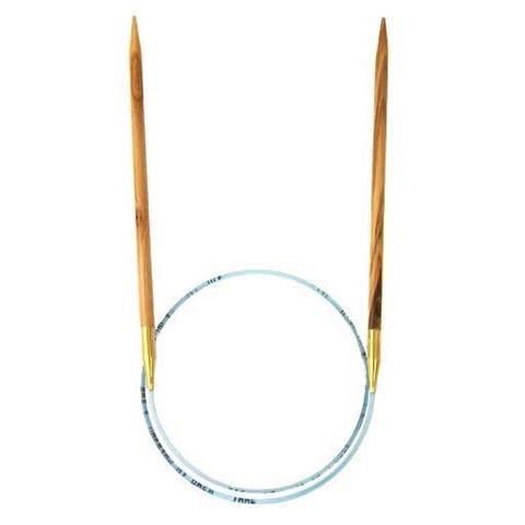 "Needles ADDI OLIVE WOOD #6 40"""