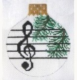 Canvas MUSIC REFLECTION ORNAMENT  WG12828