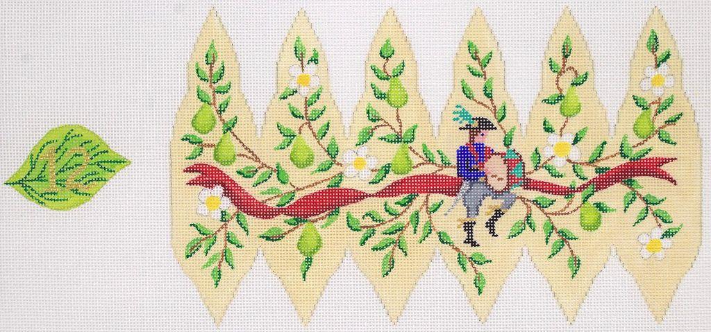 Canvas CHRISTMAS PEAR ORNAMENT DAY 12  XM105