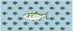 Canvas MINI FLASK - BASS FISH<br /> SELF FINISHING