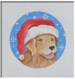 Canvas GOLDEN RETRIEVER SANTA  DG02