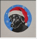 Canvas BLACK LAB SANTA  DG03