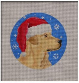 Canvas YELLOW LAB SANTA  DG04
