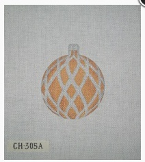 Canvas CHRISTMAS BALL GOLD WITH SILVER  CH305A