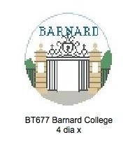 Canvas BARNARD ROUND ORNAMENT  BT677
