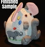Canvas ELEPHANT PUDGIE  0863D