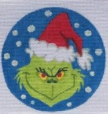 Canvas ROUND GRINCH  HO1626