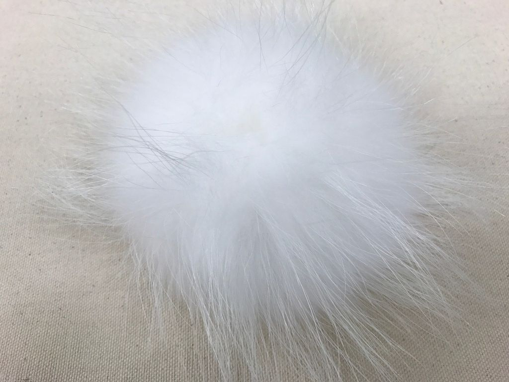 Accessories POMPOMS  XL WHITE  WITH SNAP
