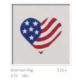 Canvas AMERICAN FLAG HEART  HT11