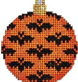 Canvas BATS MINI BALL ORANGE ORNAMENT  EE1331O