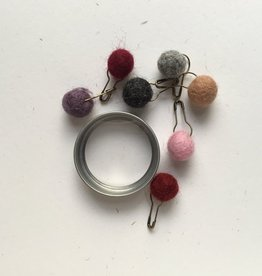 Accessories TIN LOCKING MARKERS PINK & PURPLE POMS
